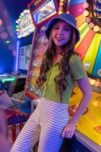 High School teen arcade photo