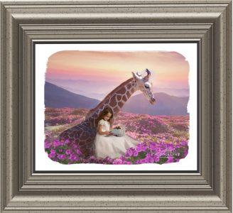 Girafe girl framed
