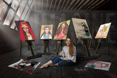 senior artist loft composite collage class of 2021 creative